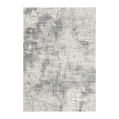 Clara Gray and Ivory Cross Print Area Rug, 8x10