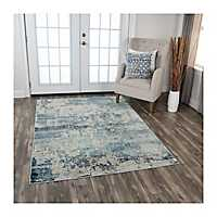 Ivory and Gray Clara Area Rug, 5x8