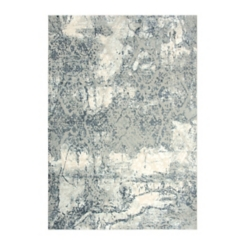 Clara Gray Abstract Power Loomed Area Rug, 8x10