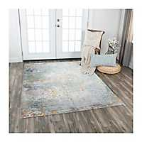 Multicolor Scroll Prism Area Rug, 5x7