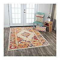 Orange Medallion Rothrock Area Rug, 5x8