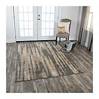 Brown and Gray Valeria Abstract Area Rug, 5x8