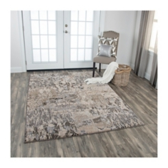 Gray and Tan Valeria Abstract Area Rug, 5x8