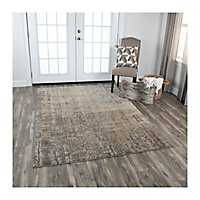 Brown and Gray Valeria Area Rug, 5x8
