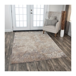 Tan Valeria Abstract Area Rug, 5x8