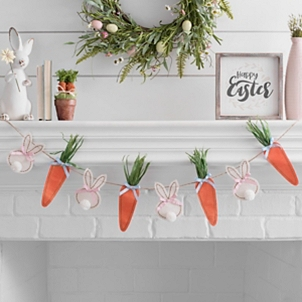 Easter Bunnies and Carrots Banner