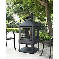 Mackenzie Black Steel Fire Pit