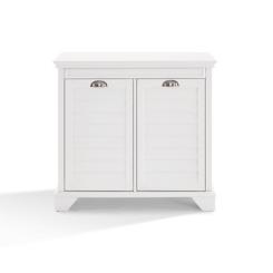 Lucas White Linen Hamper Cabinet