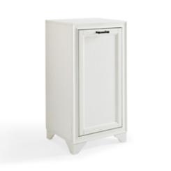 Tyler Vintage White Linen Hamper Cabinet