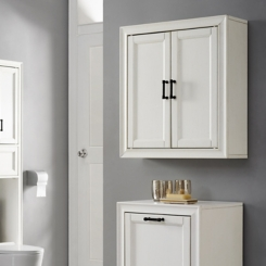 Tyler Vintage White Linen Wall Cabinet
