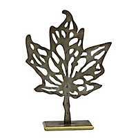 Maple Leaf Statue on Stand