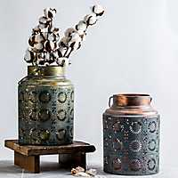 Copper Scroll Work Lantern