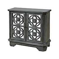Larissa Mirrored Front Gray Cabinet