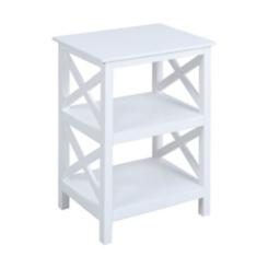 White Open Two-Tier Shelf
