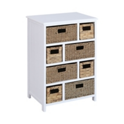 Penny White Chest with Assorted Basket Drawers