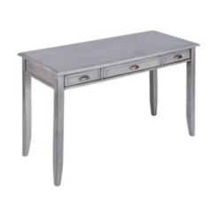 Beatrice Gray 3-Drawer Desk