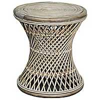 Kealy Round Natural Rattan Accent Table