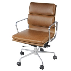 Low Back Brown Chandy Office Chair