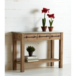 Rustic Pulls 3-Drawer Console Table