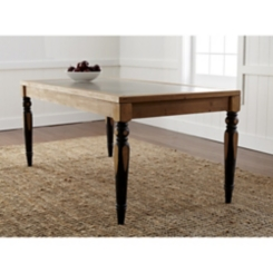 Two-Toned Dining Table with Tin Top