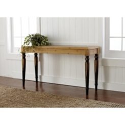 Two-Toned Console Table with Tin Top