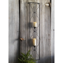 Swirl Patterned Metal Wall Sconce