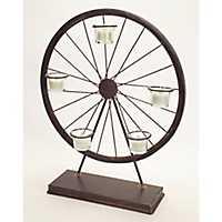 Rustic Ferris Wheel Tealight Candle Holder
