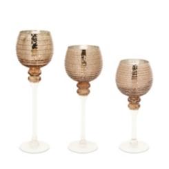 Gold Mercury Glass Votive Holders, Set of 3