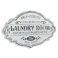Enamel Laundry Room Wall Plaque