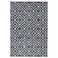 Denim Carved Tiles Area Rug, 8x10