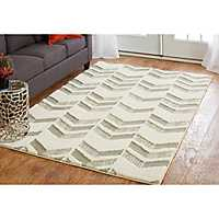 Gray Loft Chevron Arrows Area Rug, 5x8