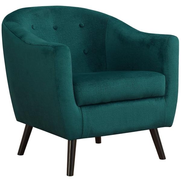 Paige Emerald Green Mosaic Velvet Accent Chair