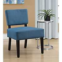 Vera Blue Armless Accent Chair