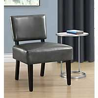 Vera Charcoal Gray Faux Leather Accent Chair