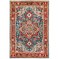 Blue Persian Border Jordall Area Rug, 5x8