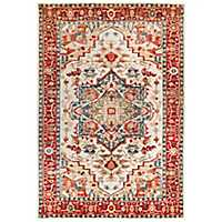 Cream Persian Border Jordall Area Rug, 5x8