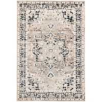 Gray Persian Border Jordall Area Rug, 8x10