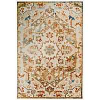 Natural Diamond Emblem Lenox Area Rug, 5x8