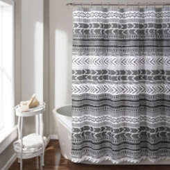 Black and White Geometric Hygge Shower Curtain