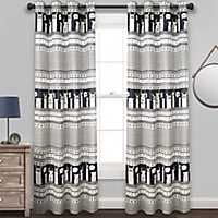 Navy Stripe Llama Curtain Panel Set, 84 in.