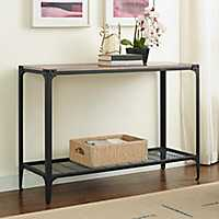 Rustic Iron and Driftwood Console Table