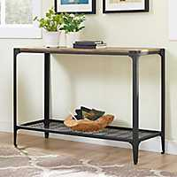 Rustic Iron and Barnwood Console Table