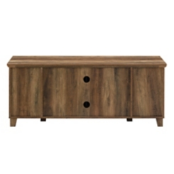 Rustic Oak Media Cabinet with Middle Doors