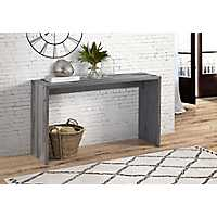 Rustic Reclaimed Gray Wood Console Table