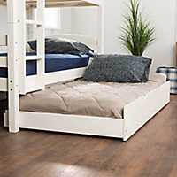 Solid Wood White Trundle Twin Bed