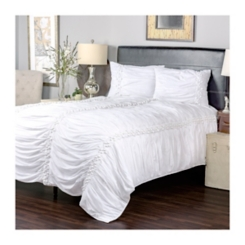 White Pom Pom 3-pc. Queen Comforter Set