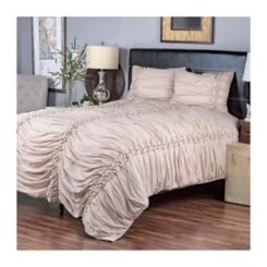 Cappuccino Pom Pom 3-pc. Queen Comforter Set