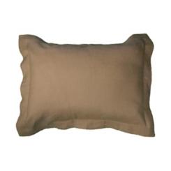 Khaki Linen King Pillow Sham