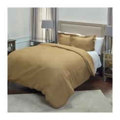 Khaki Linen Queen Duvet Cover