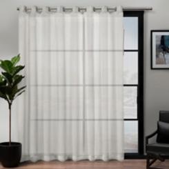 Snowflake Sheer Patio Curtain Panel, 84 in.